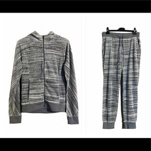 Juicy Couture Velour Marled Gray Sweatsuit Sz S